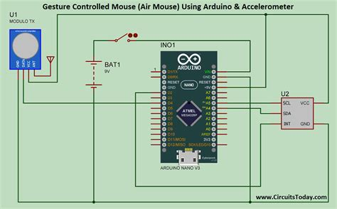 gesture controlled mouse air mouse  arduino