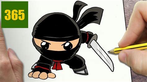 hur man ritar ninja kawaii steg foer steg kawaii