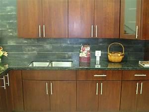 4E Cherry Slab door M14 Kitchen Cabinets Photo Album