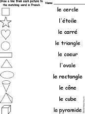 Match French Words and Pictures at EnchantedLearning.com ...