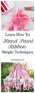 Learn How To Hand Paint Ribbon - Simple Techniques ...