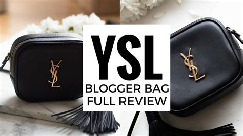 ysl blogger bag full review  fits