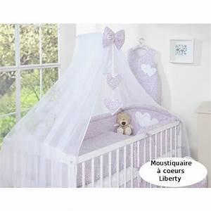 Moustiquaire Ciel De Lit : ciel de lit b b en moustiquaire liberty rose achat ~ Dallasstarsshop.com Idées de Décoration