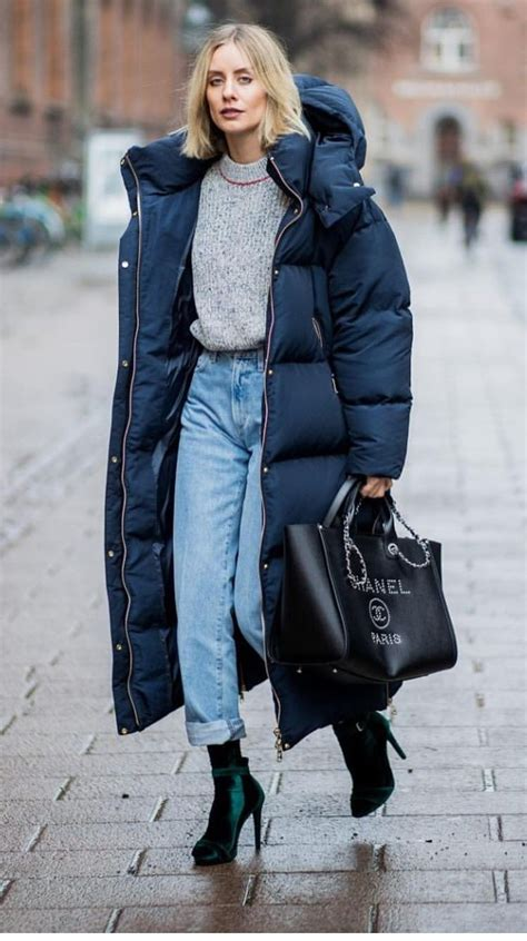 Long Puffer Coat Chic Winter Outfit For Women Casual
