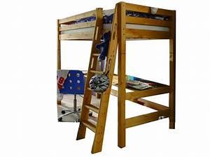 Hochbett Kiefer Massiv : infantil infanskids hochbett in kiefer massiv mit schreibplatte ~ Markanthonyermac.com Haus und Dekorationen