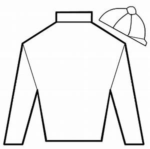Blank t shirt template for colouring clipart best for Jockey silks template
