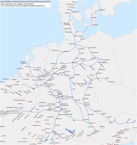 streckennetz deutschland deutschlandkarte bahn