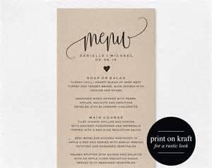 wedding menu rustic wedding menu wedding menu template menu cards menu
