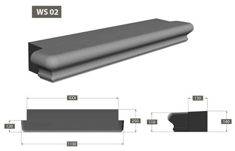 Window Sill Bullnose Edge by Atlas Columns Pressed Concrete And Light Weight Products