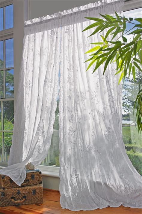 Tropical Window Curtains by Arabella Sheer Panel