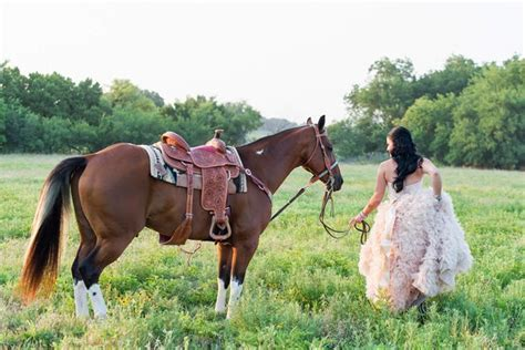 Western Chic Wedding : Pink Ruffles and Cowboy Boots