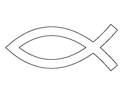 jesus fish pattern   printable outline  crafts
