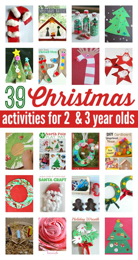 39 activities for 2 and 3 year olds no time 668 | Christmas activities for preschool 3 year olds