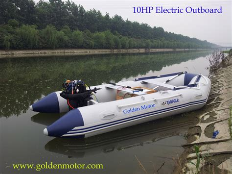 Small But Powerful Boat by Electric Propulsion Outboards