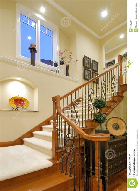 luxury house staircase stock photo image  modern interior