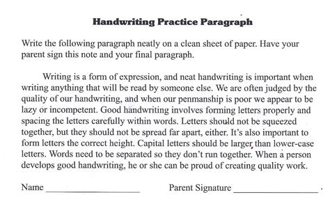 handwriting practice paragraph i found this on www lauracandler school handwriting