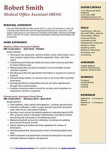 Medical Assistant Resume Format Medical Office Assistant Resume Samples Qwikresume
