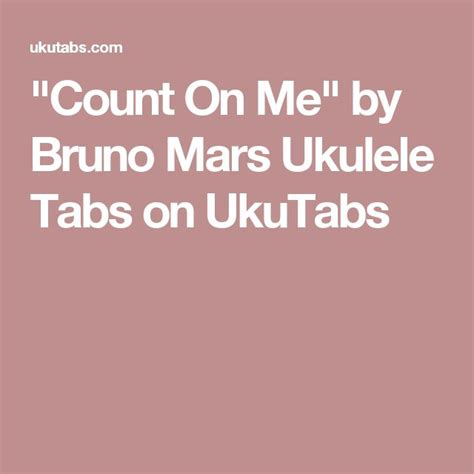 Fine Bruno Mars Count On Me Chords Gift Beginner Guitar Piano