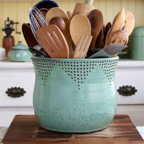 kitchen utensil holder ideas jumbo utensil holder aqua mist flower pot kitchen