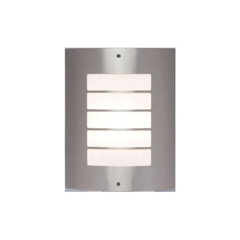 saxby st031f bianco 1 light brushed stainless steel wall l