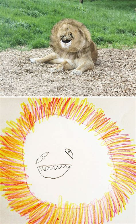 dad turns   year  sons drawings  reality