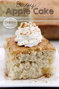 3-Ingredient Apple Cake