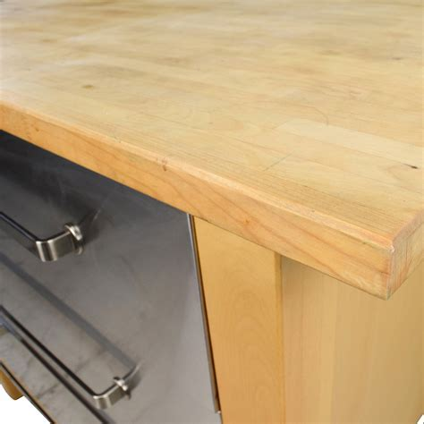62% OFF   IKEA IKEA Varde Kitchen Butcher Block Island