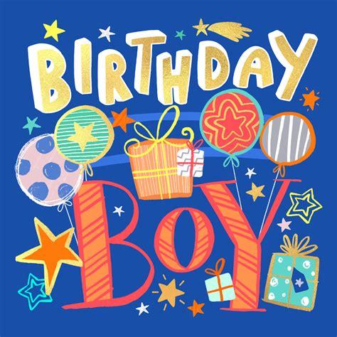 birthday boy birthday card   island