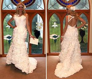 toilet paper wedding dresses say what With how to make a wedding dress out of toilet paper