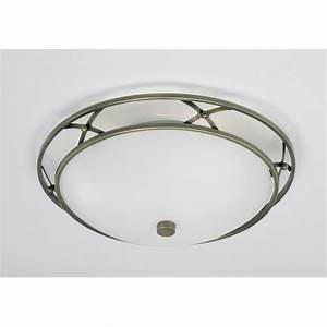 Endon  light flush ceiling antique brass