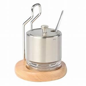 Cuillères Et Cup à Mesurer Inox : sucrier et cuill re inox support bois d 39 h v a maison fut e ~ Teatrodelosmanantiales.com Idées de Décoration