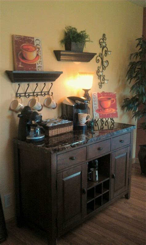 A diy coffee station is the perfect way to start your day. coffee station ideas...Love this! Wish I had a place for this! - House Decorators Collection