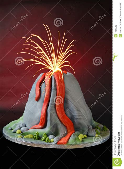 volcano cake stock photo image  flow birthday