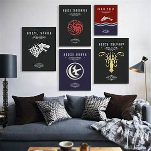 Game of thrones a movie tv poster vintage wall art canvas