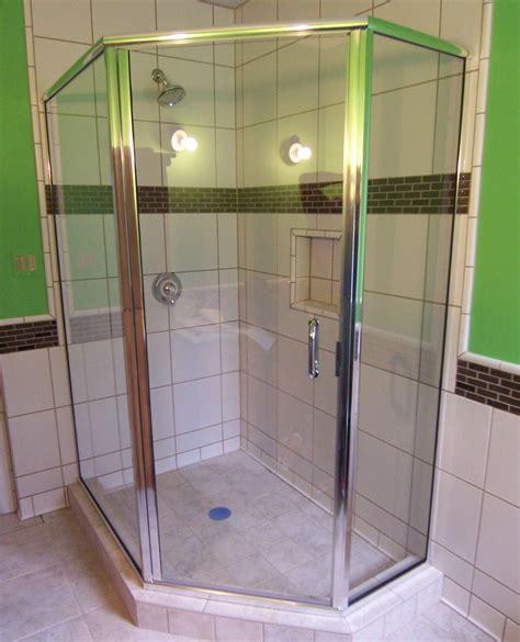Frameless Neo Angle Shower Doors by Framed Semi Frameless Shower Door King Shower Door