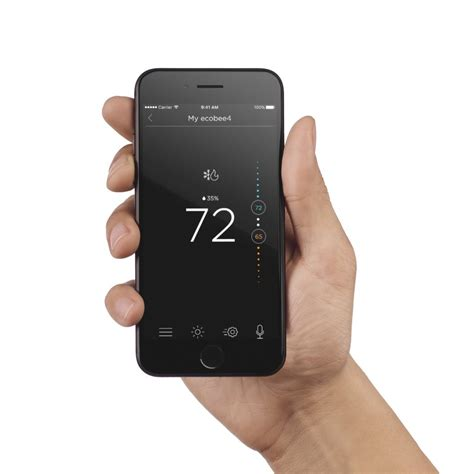 ecobee4 smart thermostat with voice service