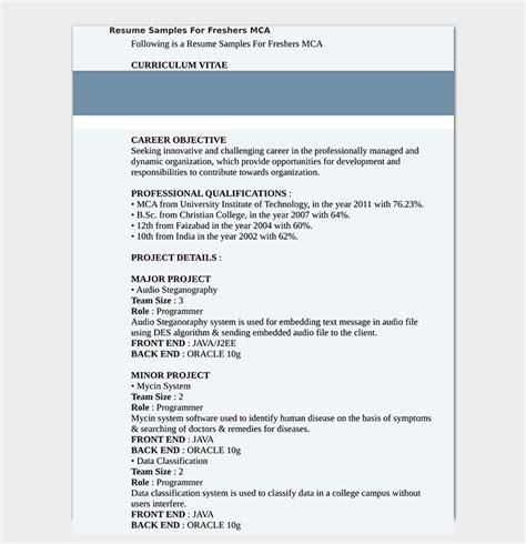 fresher resume template 50 free sles exles word pdf