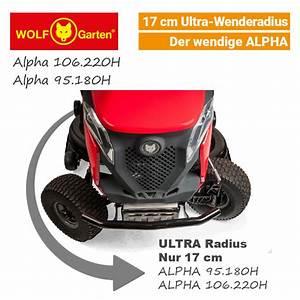 wolf garten alpha 106220 h rasentraktor v twin mit 17cm With französischer balkon mit wolf garten aufsitzmäher