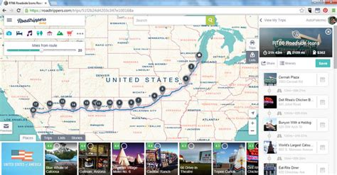 Route 66 Trip Planner Map Related Keywords