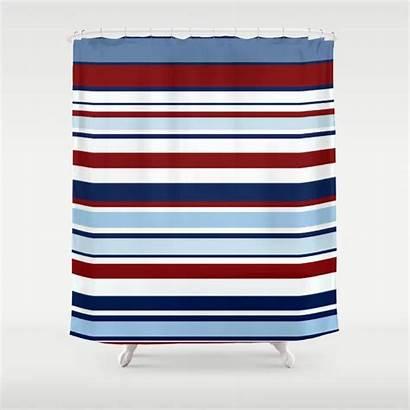 Striped Shower Curtain Nautical Society6 Curtains Rug