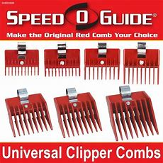 Speed O Guide Universal Clipper Comb Attachments All 7 Size Setfits Most Brands Ebay