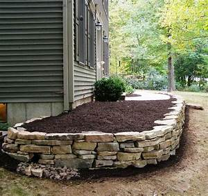 Beds, Flower, Beds, And, Stacked, Stones, On, Pinterest