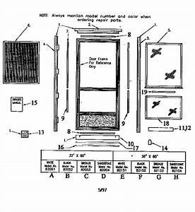 Sears Hilite Storm Door Parts