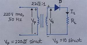 Half-wave Rectifier - Circuit Diagram - Ripple Factor