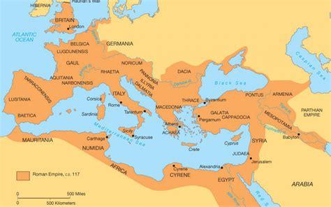 maps roman empire