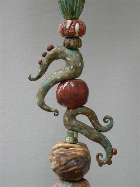 jenni ward ceramic sculpture totem series