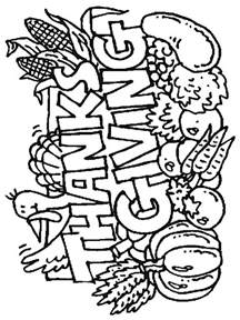 free coloring pages of thanksgiving