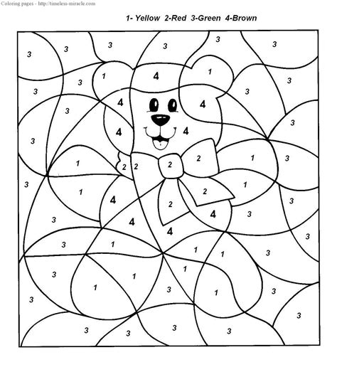 Coloring By Numbers by Color By Number Coloring Pages Timeless