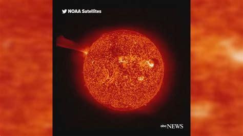 massive explosion   sun video abc news