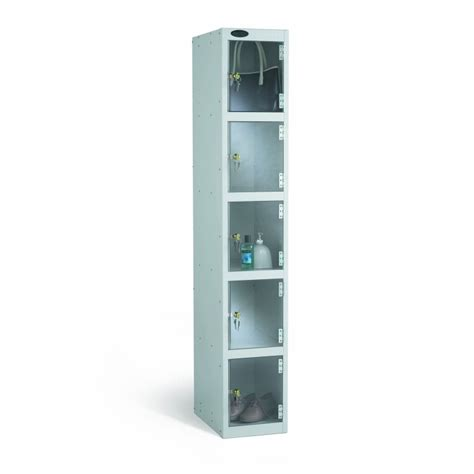 compartment clear door anti theft locker